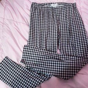 Black and White Plaid Checkered Leggings